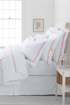 Elevate classic hotel-style sheets with an embroidered monogram. The personalized bedding trend is très chic and beloved by celebs like Taylor Swift. Best of all, expensive-looking monograms are actually easy and affordable to add to bedding. Case in point: this 400-thread-count duvet set from Land's End (from $70, originally from $159). Source: Land's End