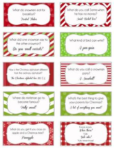 Elf on the shelf jokes Printable Joke Cards... great for the boys' lunches