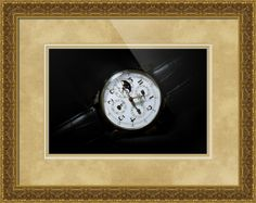 "Breguet Moonphase Triple Calendar Swiss watch framed print in Classical Baroque configuration. Price starts at $177 (Petite 21.5"" x 24.5""). http://www.imagekind.com/Breguet-Moonphase-Triple-Calendar-Swiss-Timepiece_art?IMID=60cf7cc5-000e-433f-9585-738260b6974f #watches #decors #walldecor #homedecor"