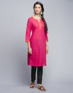 Cotton Striped Contrast Top Stitch Mini Kurta. Brighten up your look with our range of ladies kurtas at fabindia.com