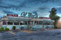 Al Mac's Diner a classic American diner in Fall River Massachusetts HDR photo