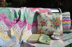Spring has sprung - cushions and quilts made by me