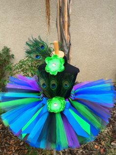 Peacock Tutu Set For Girls. Selling custom tutu's for $25 plus shipping email valdicia18@gmail.com to order! Payment will be through Square. #tutu