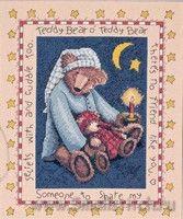 Схема вышивки крестом  «Teddy bear»