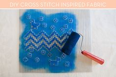 How To: Create Cross Stitch-Inspired Printed Fabric » Curbly | DIY Design Community