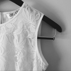 White Lace Kasper Top Beautiful White Lace Top. I have this top and I love it. I wear it with a cute patterned boho pants. Looks so supercute. NWT Size XS. Kasper Tops