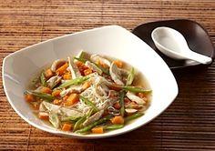Recipe: Sesame-Ginger Chicken Noodle Soup (using rice noodles) - Recipelink.com
