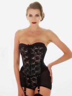 00a31cdb07 What Katie Did Gwendoline Lace Merrywidow   Panty Girdle -  239.50 Zwarte  Lingerie