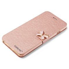 Luxury Fashion Butterfly Built-in Card slot Silk pattern 4.7 inch Stand Flip Leather Mobile Phone Case For iPhone 7 7 6 Plus 6S