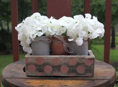 RUSTIC PALLET CENTERPIECE stenciled with 3 by TheSouthernBlend