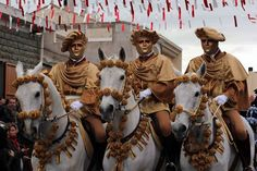 La Sartiglia di Oristano on Sardinia. Masked men ride their mounts in an ancient, medieval jousting game loaded with symbolism and tradition.