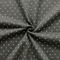 Sweatshirt Baumwollstoff angeraut Artikel Jogging  Sterne klein  Farbe Dunkel-Grau meliert