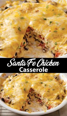 Santa fe chicken casserole easy recipe best taste of food! chicken casserole casserolerecipes this cheesy crock pot ham tater tot casserole is a super easy recipe that young and old alike devour! it is simple and delicious! Easy Casserole Recipes, Fun Easy Recipes, Casserole Dishes, Easy Meals, Easy Mexican Food Recipes, Stuffing Casserole, Cooking Chicken To Shred, How To Cook Chicken, Santa Fe Chicken