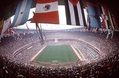 There are some incredibly impressive venues in professional sports. But these 50 are absolutely mind-blowing. Ranging across a variety of professional sports, let's take a look at what the world has to offer. Mexico 86, Mexico City, World Cup Stadiums, Professional Soccer, World Cup Final, Soccer Games, What The World, Sports Pictures, David Beckham