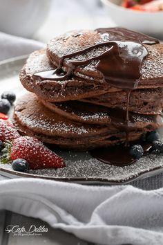 Imagem de chocolate, food, and pancakes