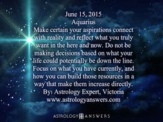The Astrology Answers Daily Horoscope for Monday, June 15, 2015 #astrology