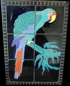 Antique Catalina Parrot Tiles circa 1920-30