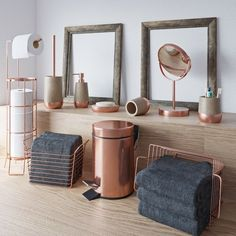 gold Bathroom Decor Accents Neptune rose gold complete bathroom accessory and towel bundle Gold Bathroom, Bathroom Plants, Bathroom Colors, Bathroom Sets, Small Bathroom, Zen Bathroom Decor, Bathroom Canvas, Neutral Bathroom, Bathroom Accessories Sets