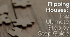 We all know that flipping houses is something that is romanticized on TV . . . this post walks through a step-by-step (30 steps) procedure to flip a house.  One of the most comprehensive posts on the topic online, this is an article you don't want to miss if you're in real estate.  http://www.biggerpockets.com/renewsblog/2014/01/07/flipping-houses/