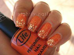 Nightly Nails: Orange Layering
