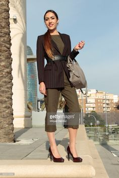 Psychologist Ares MIro is wearing a H&M jacket, Zara shoes and jumpsuit, Day a Day handbag, Guess watch, Tous jewelry and Zona 16 belt during the Barcelona 080 Fashion Week Autumn/Winter 2017 at Teatre Nacional on February 1, 2017 in Barcelona, Spain.