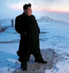 Seoul: North Korean leader Kim Jong-Un has climbed the nation's highest mountain reported a state-run media on Sunday. Arriving at the summit, he told the troops that the hike delivers mental energy more powerful than nuclear weapons. North Korea Kim, South Korea, In 2015, Album Photo, Weird And Wonderful, Photos Of The Week, Image Shows, Picture Show, Troops