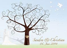 Wedding Tree Motiv4 - Fotoleinwand Leinwand Weddingtree Hochzeitsbaum Wedding Tree
