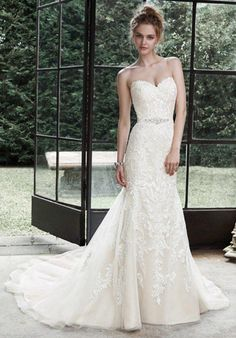 Maggie Sottero mermaid styled gown with sweetheart neckline and embellished lace I Style: Winstyn I https://www.theknot.com/fashion/winstyn-maggie-sottero-wedding-dress?utm_source=pinterest.com&utm_medium=social&utm_content=june2016&utm_campaign=beauty-fashion&utm_simplereach=?sr_share=pinterest
