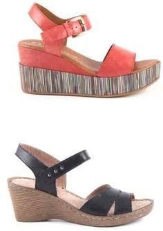 Sandale Damă cu Talpă Medie Superbe | Superb Medium-heeled sandals for women - alizera Wedges, Casual, Shopping, Shoes, Fashion, Moda, Zapatos, Shoes Outlet, La Mode