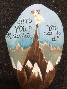 Mountain challenge rock.