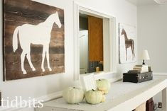 There have been some requests for instructions on how I made my horse silhouettes, so I thought I would get this tutorial up first. (For the full living room tour, click here.) They came together pretty easy. I first saw a picture of this art here. I believe it is originally Pottery Barn. I debated...Read More »
