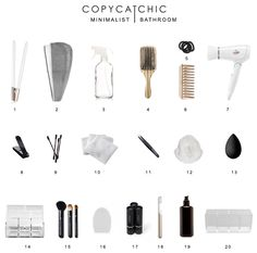 My Bathroom Declutter http://www.copycatchic.com/2016/08/my-bathroom-declutter.html | Decluttering the bathroom and organizing it with eco-friendly products while giving it update. @copycatchic | home decor and design | I curated all of my favorite products and tools for a modern, minimalist look.