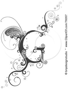 Royalty Free Rf Clipart Illustration Of A Vine Alphabet Letter G Doodle Lettering, Lettering Design, Hand Lettering, Typography, Initial Fonts, Monogram Signs, Letter G Tattoo, Arabesque, Schrift Tattoos