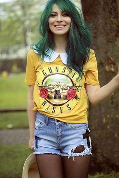 Camisas de Bandas de Rock Femininas | Toda Atual