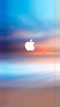 Apple Logo Splash Parallax Turquoise iPhone 7 and iPhone 7 Plus HD Wallpaper