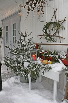 Natural outdoor display | Christmas Style | Nordic