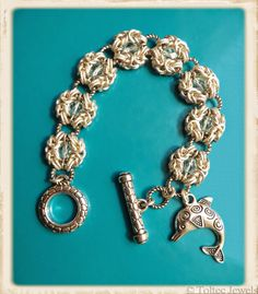 Chainmaille with crystals, stardust and silver rings  Jewel School Friends: The Ocean Blog Hop Jewelry Reveal