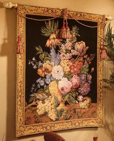 Floral And Bird Tapestry.