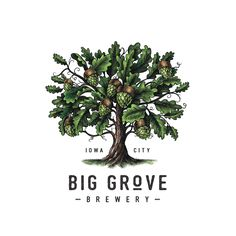Big Grove Brewery Logomark Illustrated by Steven Noble - https://www.designideas.pics/big-grove-brewery-logomark-illustrated-by-steven-noble/