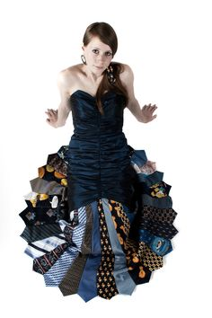 lots of ways to repurpose ties. If I could sew I would try to make a dress like this!