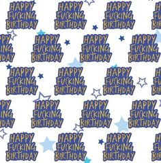 GIFT WRAP Happy Fucking Birthday Our exclusive rude gift wrap if perfect for wrapping funny birthday presents The pack contains two folded sheets of swearing gift wrap. King Birthday, Happy Birthday, Funny Birthday Presents, Brother Presents, Birthday Gift Wrapping, Couple Gifts, Gift Bags, Funny Gifts, Bff