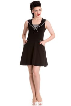 Hell Bunny Hali Dress Black Now £15.95 sizes 8-16 wigig