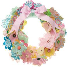 How To Make a Christmas Paper Flower Wreath
