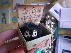 Pocito   -  Little  tiny owl, soft art  toy creature  by Wassupbrothers. Made to order , owl, buho, miniature owl, blythe friend, furball