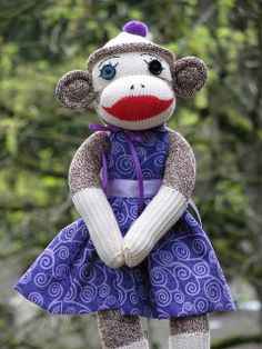 What's better than a sock monkey? A sock monkey in cute clothes!