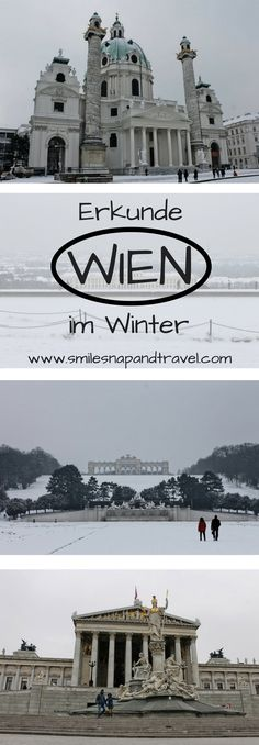 visit the sights of in the cold - a # city trip . Reisen In Europa, World Pictures, Winter Travel, Vienna, Travel Destinations, Cold, Explore, Outdoor, Trips