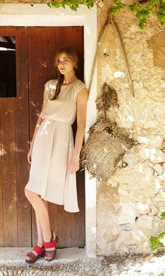 Chiffon Pleat Dress - Plümo Ltd