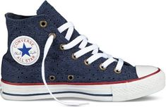 Converse Womens Eyelet Cutout Navy Sneaker - 11