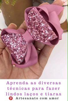 Making Hair Bows, Diy Hair Bows, Diy Ribbon, Ribbon Bows, Diy Crafts Love, Techniques Couture, Baby Girl Bows, Barrettes, Boutique Hair Bows
