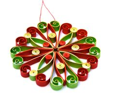 Christmas decoration, Eco-friendly, quilling, quilled
